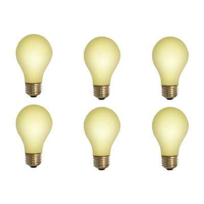 60-Watt A19 Yellow Bug Dimmable Incandescent Light Bulb (12-Pack)