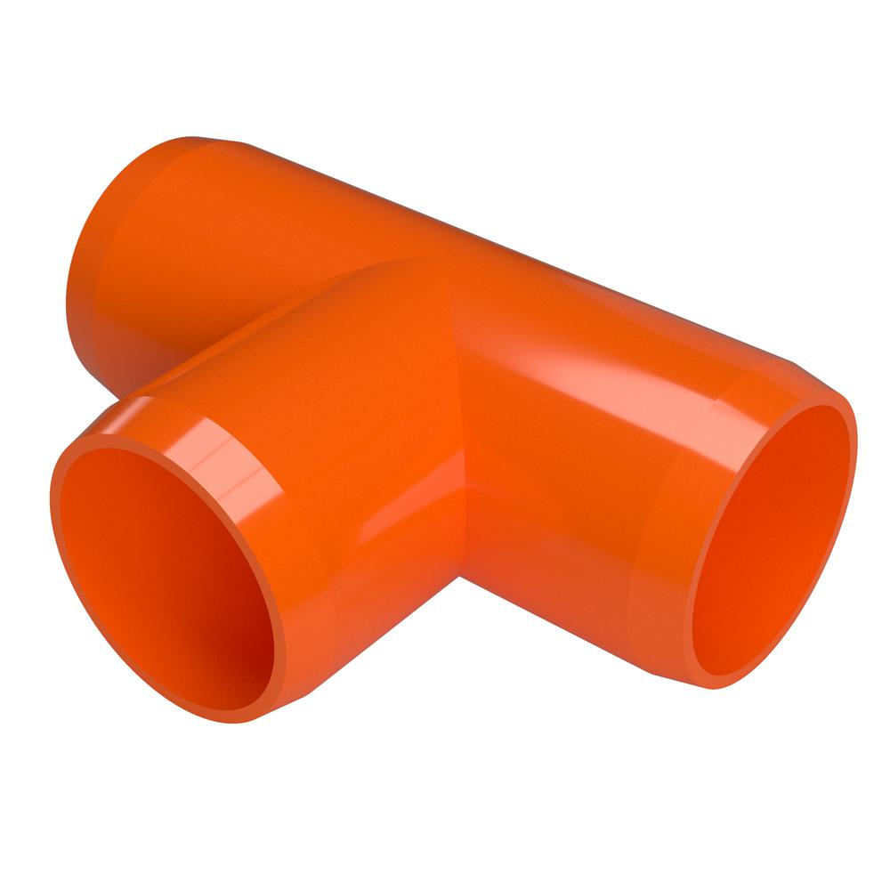 Furniture Grade Pvc Tee In Orange 4 Pack