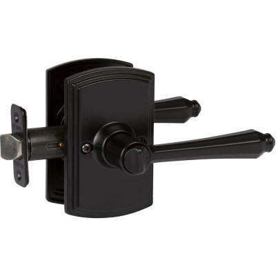 Italian Collection Florini Black Bed/Bath Door Lever