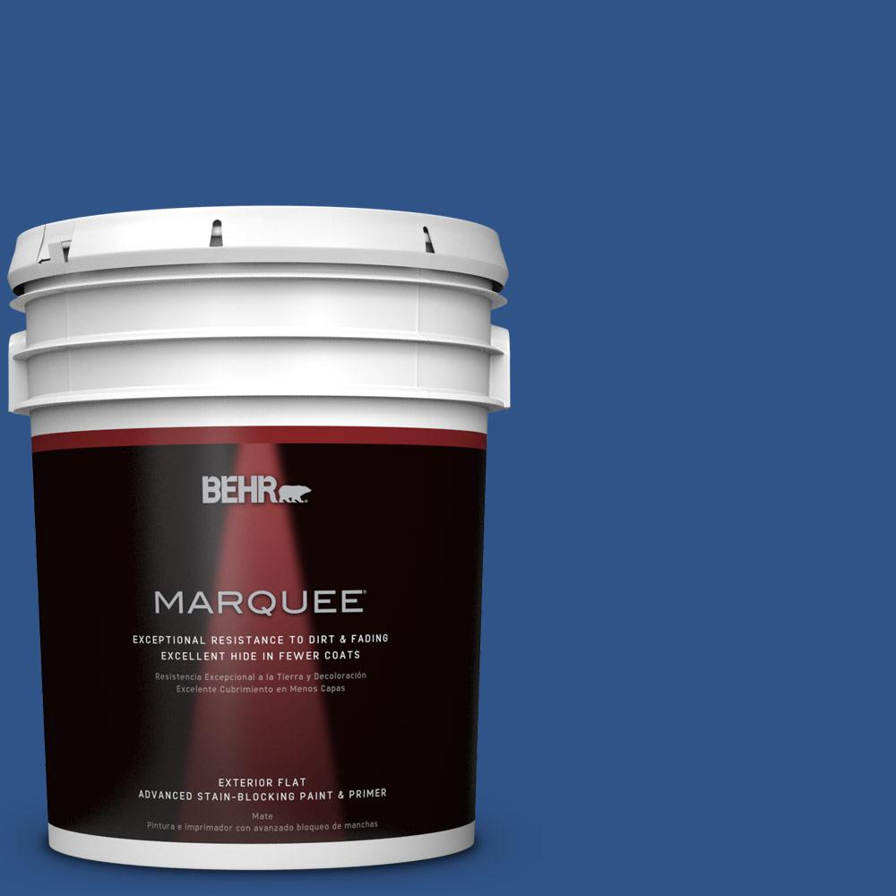 5-gal. #S-G-590 Southern Blue Flat Exterior Paint