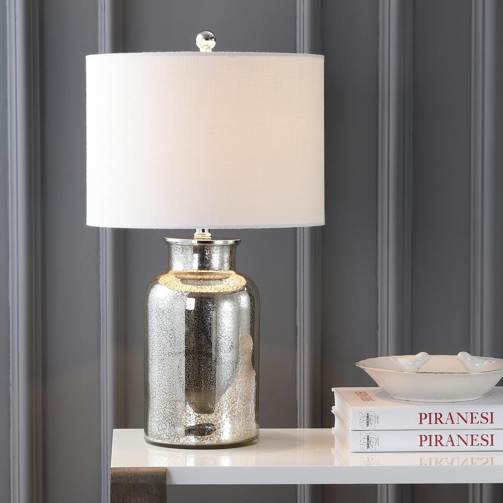 Esmee 24.5 in. Mercury Silver Mercury Glass Table Lamp