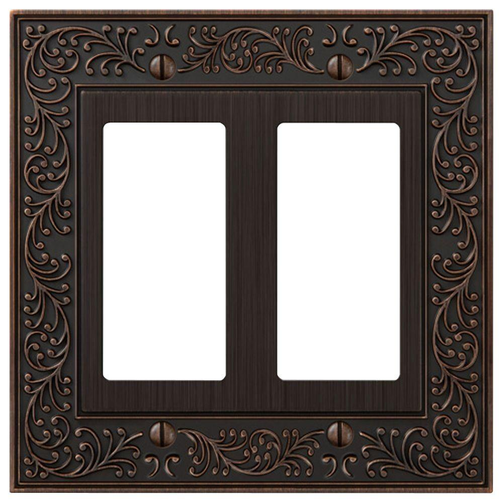 English Garden 2 Decora Wall Plate - Aged Bronze