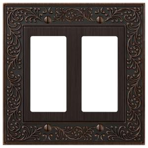 Amerelle English Garden 2 Decora Wall Plate - Aged Bronze by Amerelle