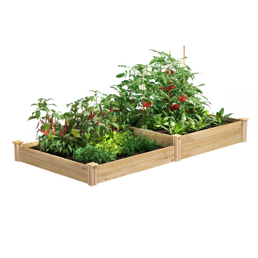 4 ft. x 8 ft. x 7-10.5 in. Original Cedar Raised Garden Bed