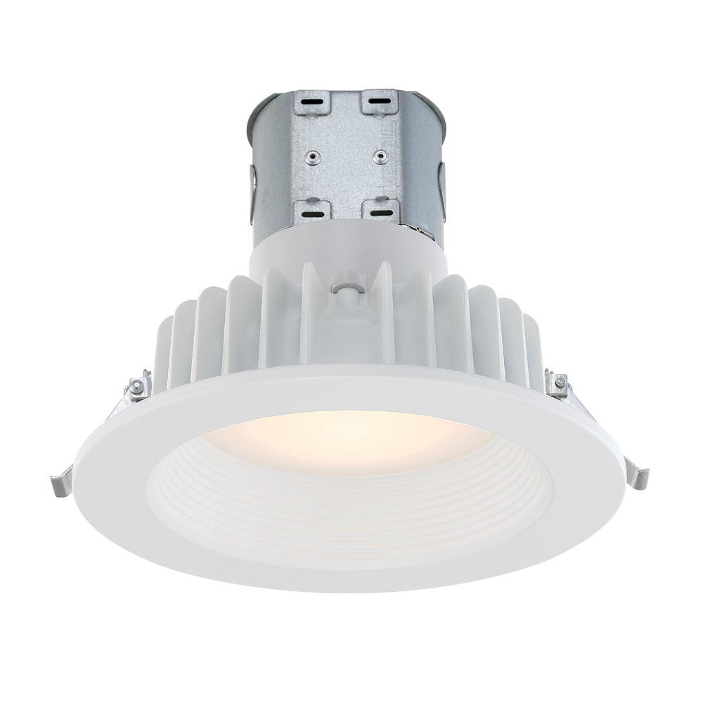 COMMERCIALELECTRIC Commercial Electric Easy-Up 6 in. White Bright White Baffle Remodel Recessed Integrated LED Kit at 91 CRI