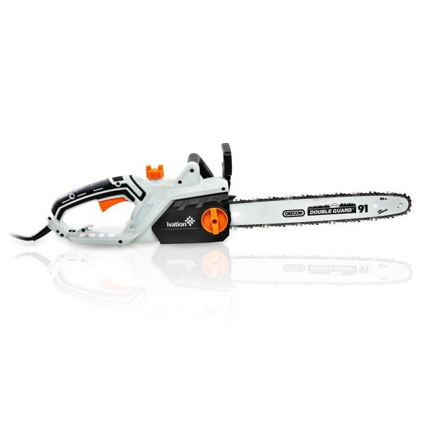 16 in. 15.0 AMP Electric Chainsaw with Auto Oiling, Auto Tension and Chain Break, Corded, Powerful Oregon Chain