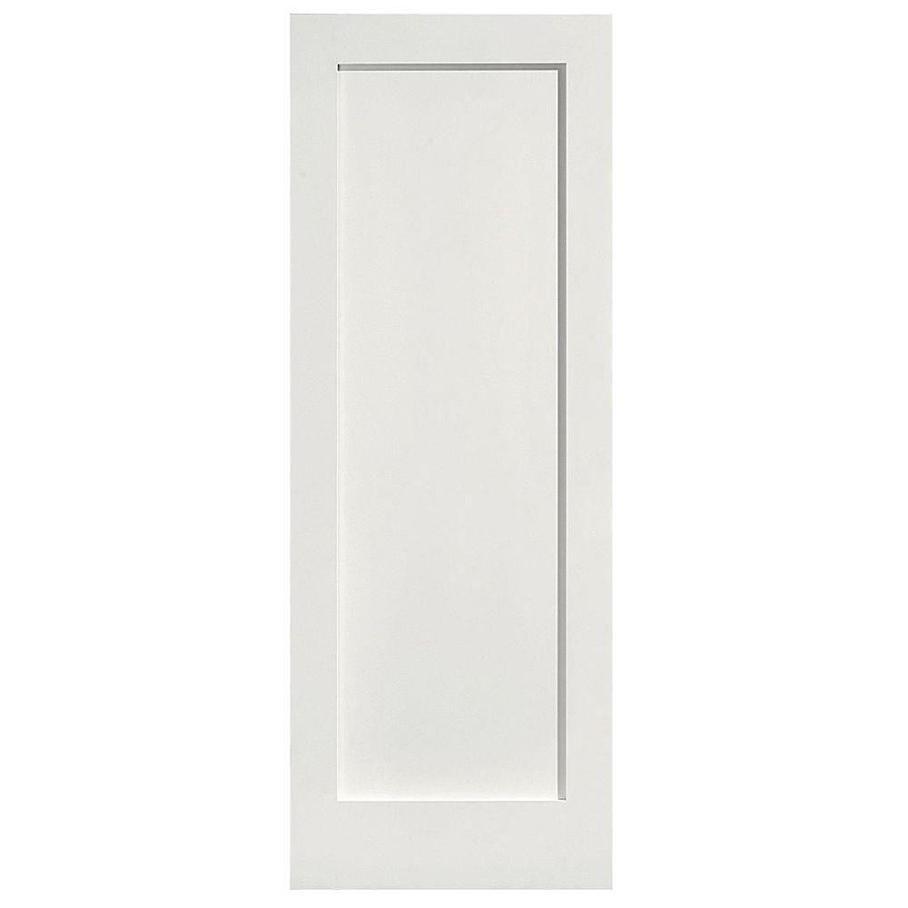 32 in. x 80 in. MDF Series 1-Panel Left-Handed Solid-Core Smooth