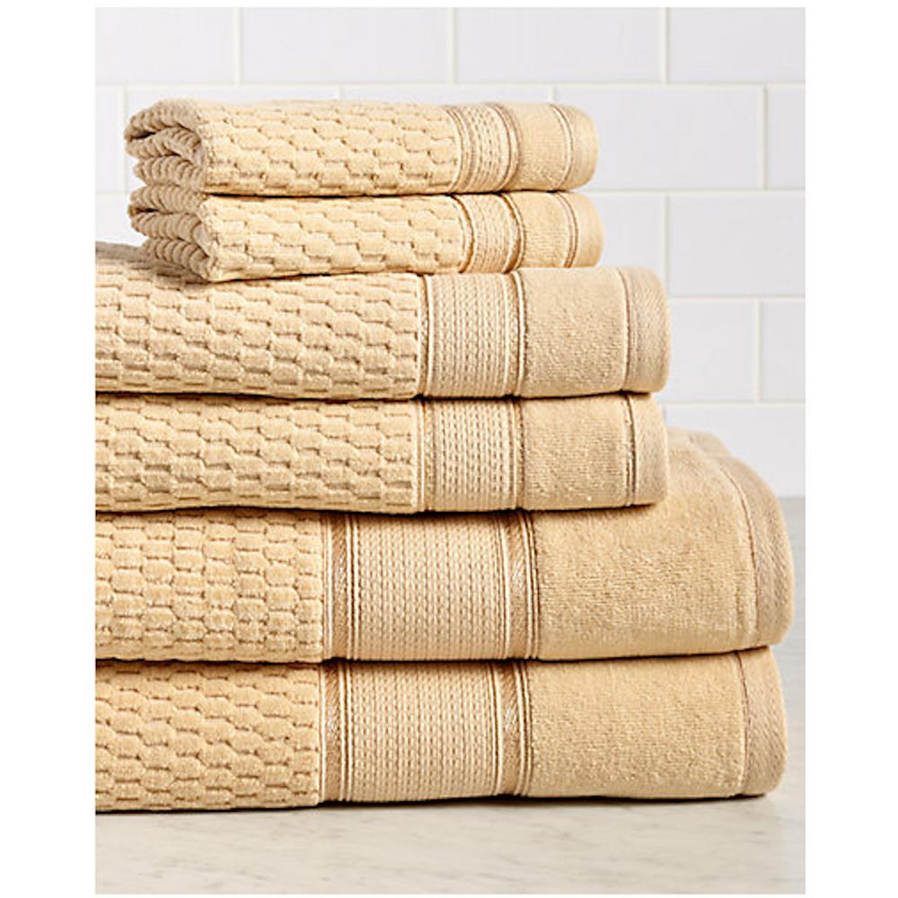 Royale 6-Piece 100% Turkish Cotton Bath Towel Set in Gold