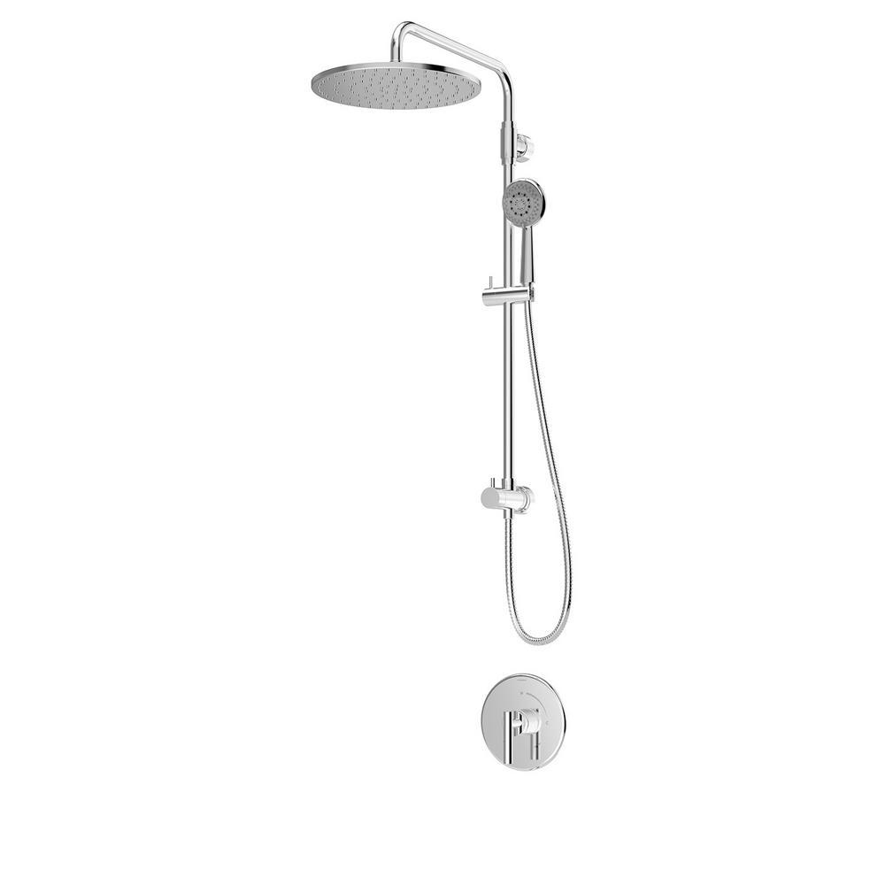 Symmons 1-Spray Dual Showerhead and Handheld Showerhead in Polished Chrome