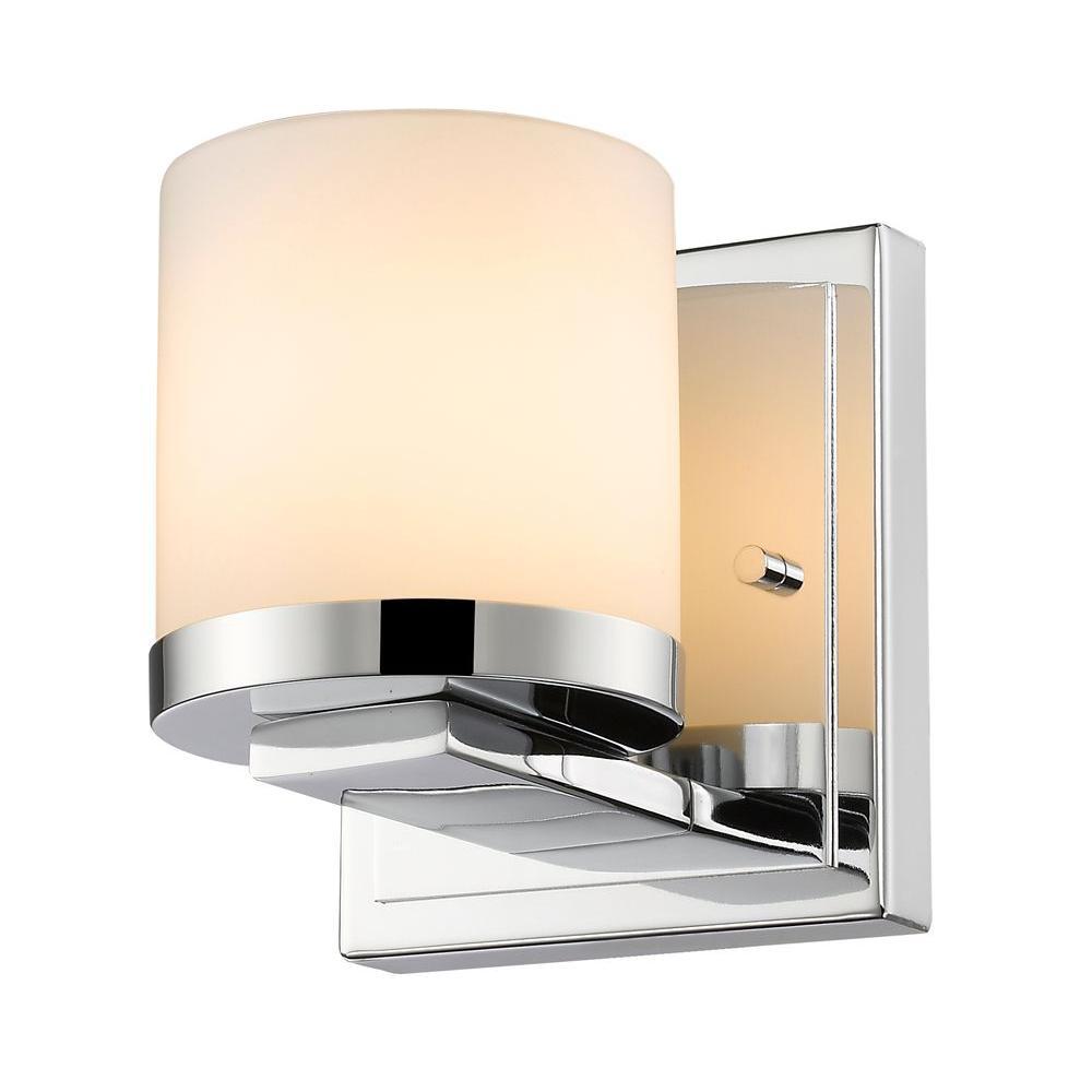 Kariya 1-Light Chrome Sconce