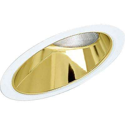 8 in. Gold Alzak Recessed Reflector Trim for Sloped CeilIngs