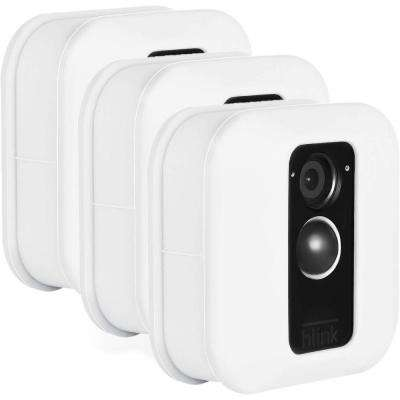 Blink XT Outdoor Camera Silicone Skin - Help Camouflage Your Home Security Camera (White, 3-Pack)