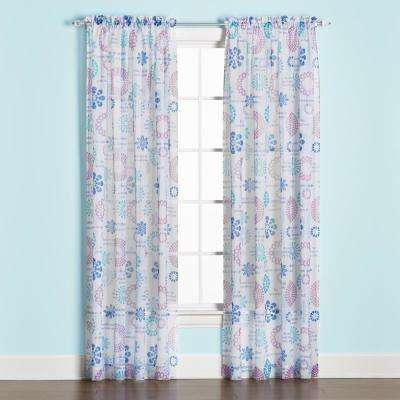 Dream 63 in. L Polyester Panel in Blue