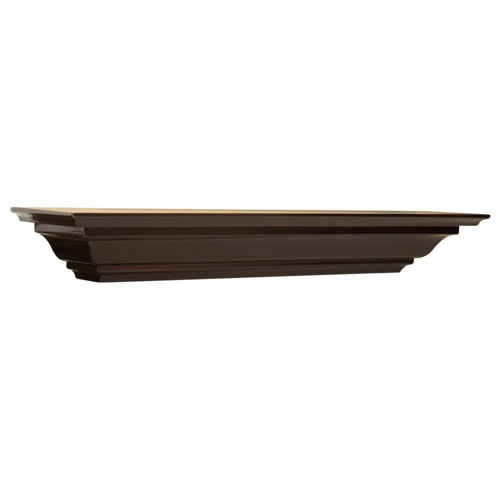 5-1/4 in. Espresso Crown Moulding Shelf (Price Varies By Length)