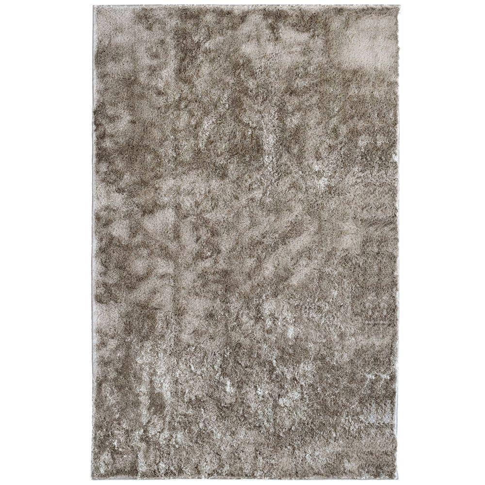 Lanart Silk Reflections Grey 3 ft. x 5 ft. Area Rug