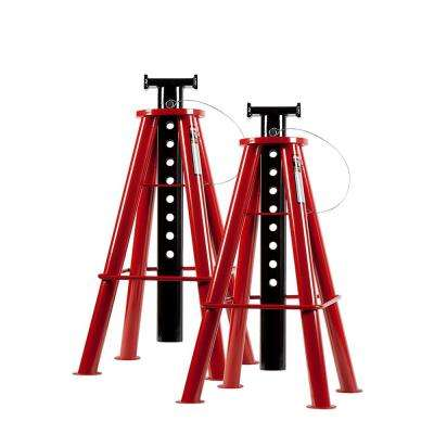 10-Ton High Height Pin Type Jack Stands (Pair)