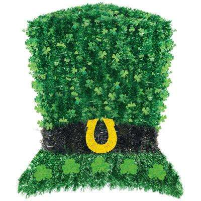 18 in. x 16 in. St. Patrick's Day Tinsel Leprechaun Deluxe Hat Decoration (2-Pack)
