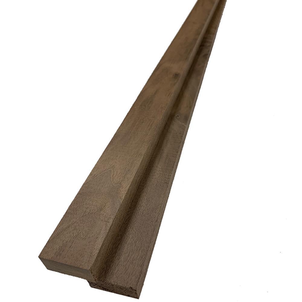 1 in. x 2 in. x 6 ft. Walnut S4S Board (2-Pack)