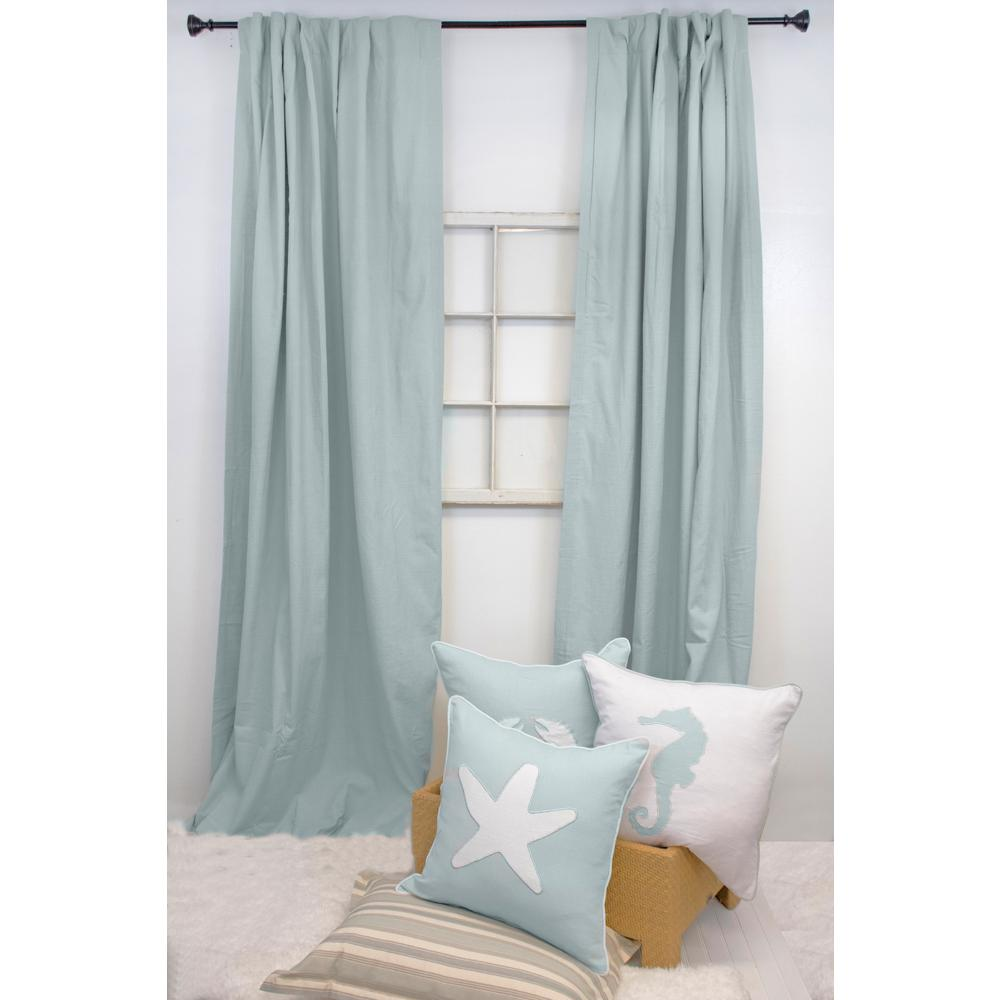 American Colors Brand 120 In. L Spa Blue Curtain Panel