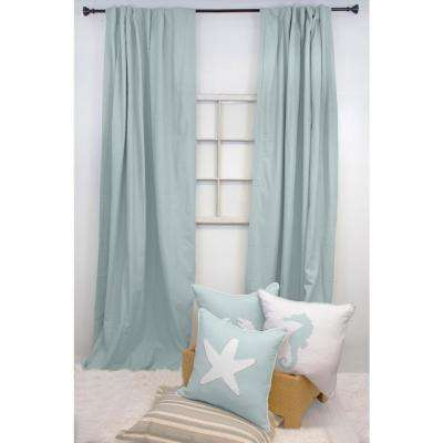 84 in. L Spa Blue Curtain Panel