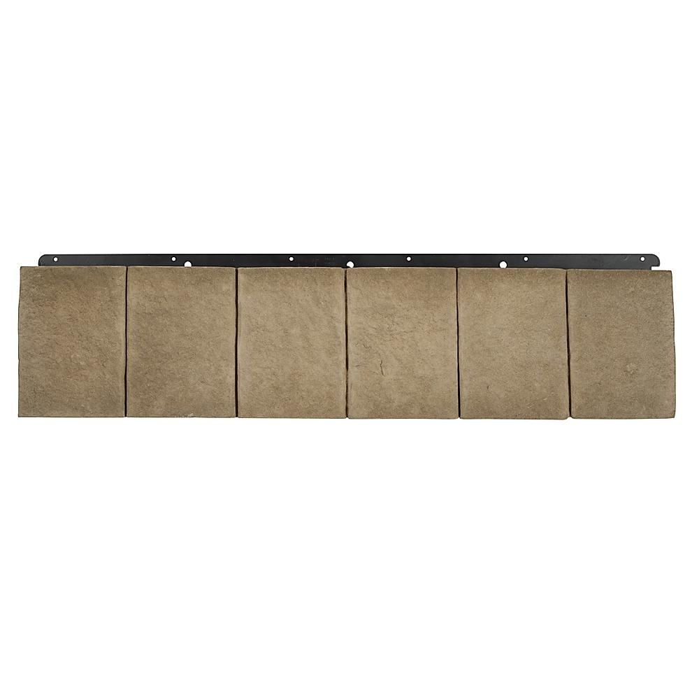Boral 8 in. x 36 in. Trim Taupe Versetta Stone (6 Bundles Per Case), Grey -  4210305