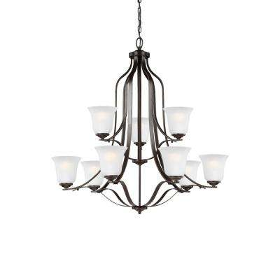 Emmons 9-Light Heirloom Bronze Chandelier