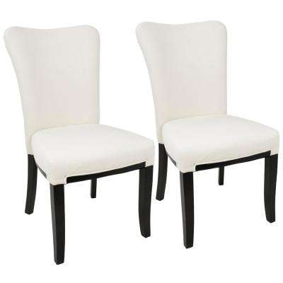 Olivia Espresso and Cream Dining Chair (Set of 2)