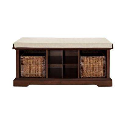 Brennan Entryway Storage Bench in Mahogany