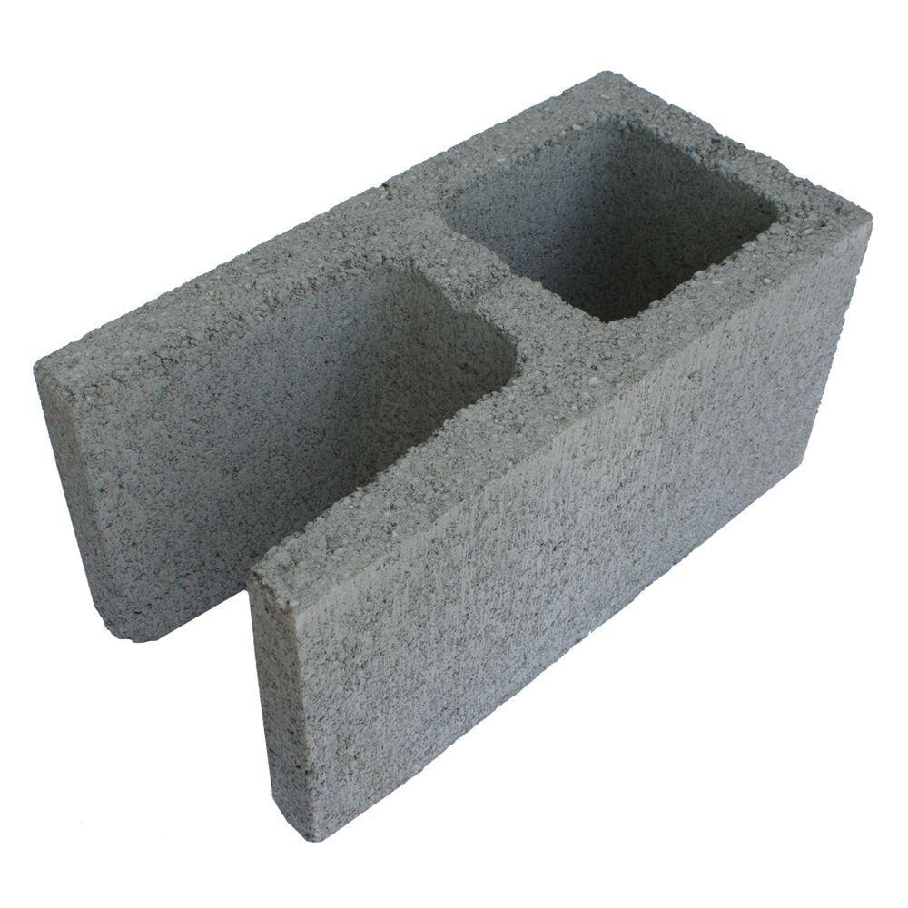 8 in. x 16 in. x 8 in. Gray Concrete Open