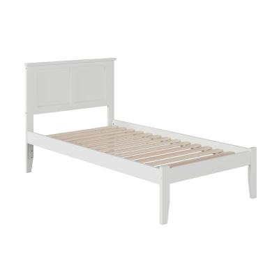 Madison White Twin XL Platform Bed with Open Foot Board