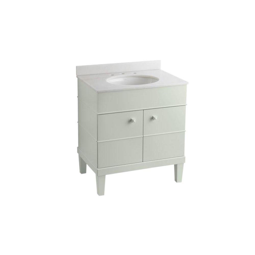 KOHLER Evandale 30 in. W x 21 in. D x 36.5 in. H Bath Vanity in Lily with Vanity Top in Lily with Lily Basin