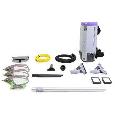 Fully Loaded Proteam Super Coach Pro 10 Qt. Commercial Backpack Vacuum Cleaner with ProBlade Kit