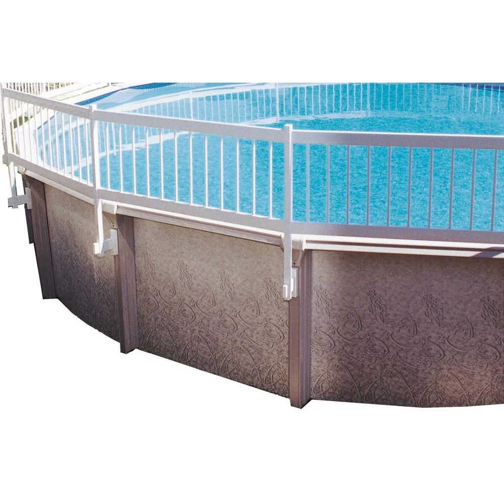 Gli Pool S Above Ground Fence Add On Kit B 3 Sections Ne146 The Home Depot