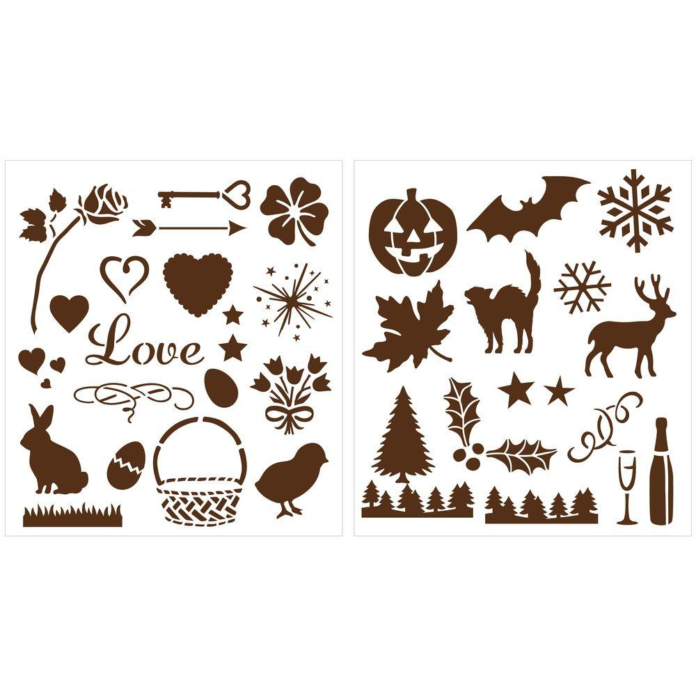 Martha Stewart Crafts Holiday Icons Laser-Cut Stencils