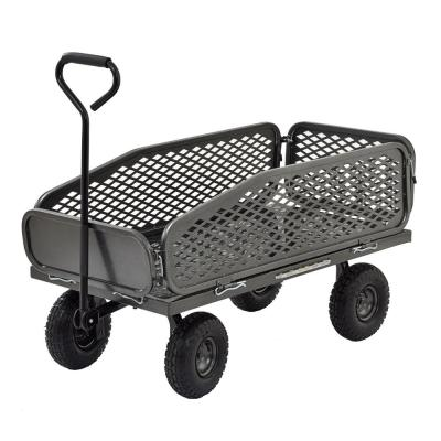 5 cu. ft. 50 in. W Garden Crate Cart with Removable Sides, 550 lb. Capacity