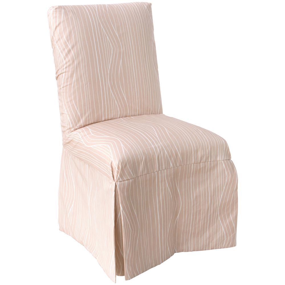 Skyline Furniture Wavelength Blush White Slipcover Dining Chair