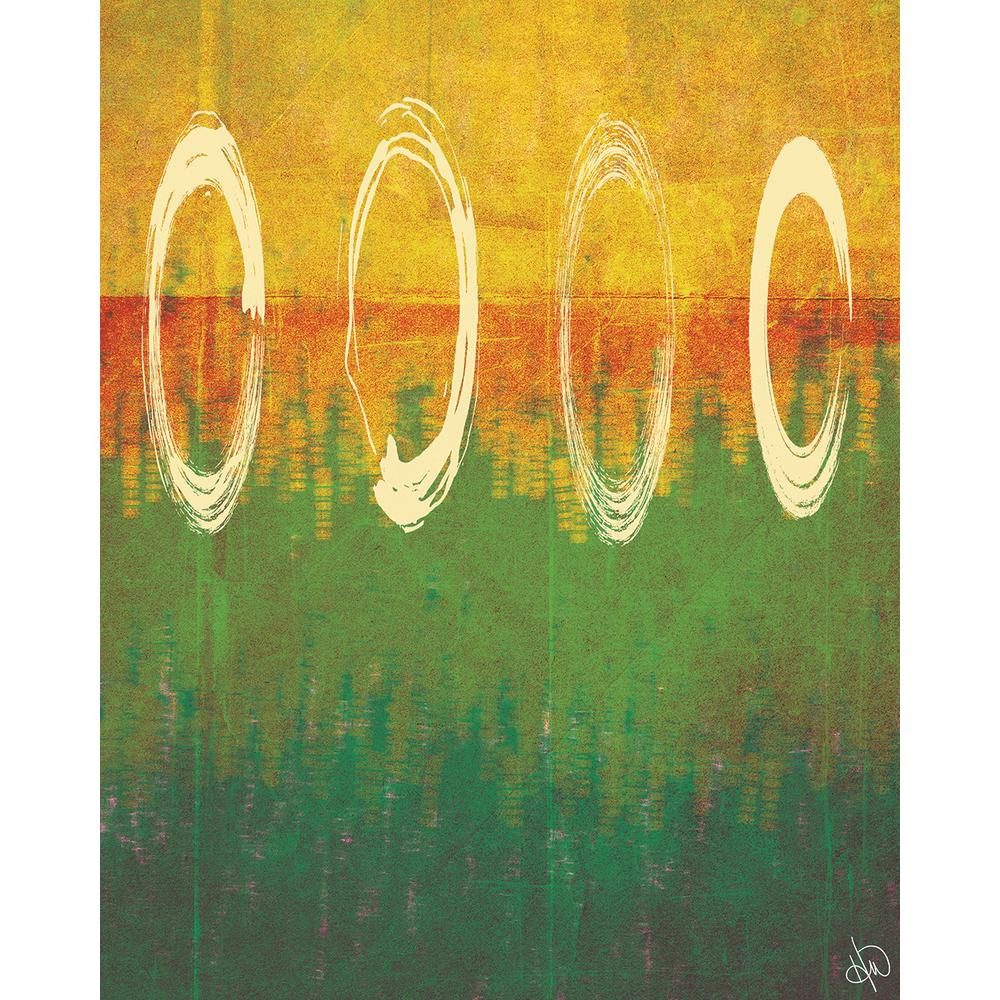 Creative Gallery 11 in. x 14 in. Through The Rings Abstract Wrapped ...