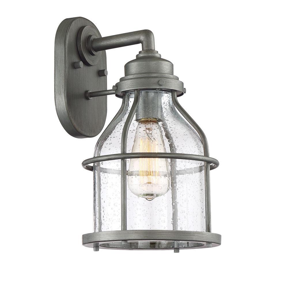 Brensten 1-Light Weathered Iron Outdoor Wall Mount Lantern
