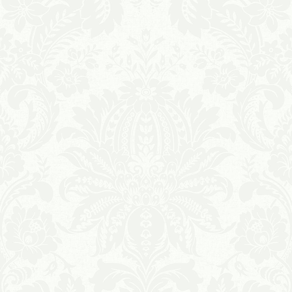 Merveilleux Graham U0026amp; Brown Empress Venetian Damask White Removable Wallpaper 104875