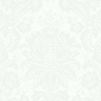 Venetian Damask White Wallpaper Sample
