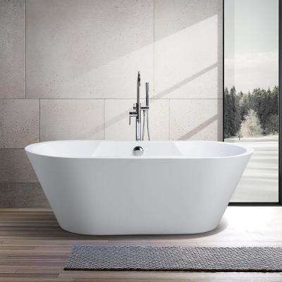 Beziers 67 in. Acrylic Flatbottom Freestanding Bathtub in White