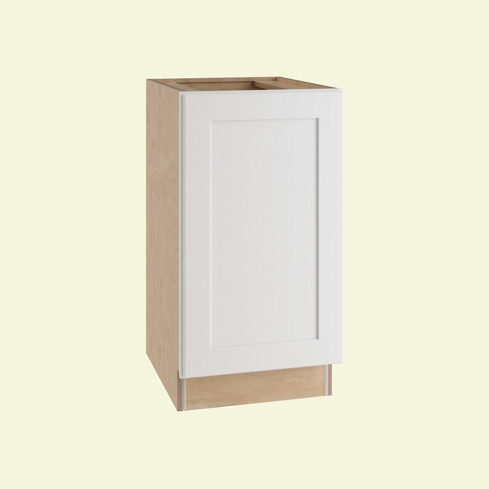 Home Decorators Collection Newport Assembled 18 in. x 34.5 in. x 24 in.  Base Kitchen Cabinet with Double Pullout Trash Can in Pacific White