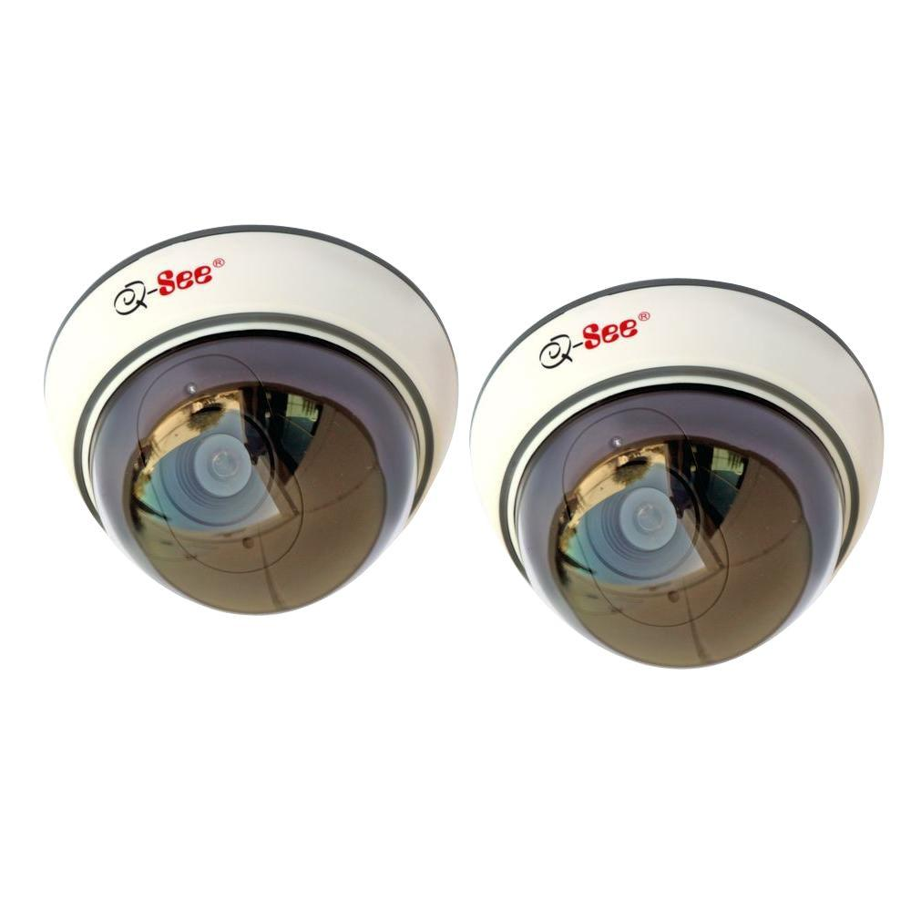 Q-SEE Indoor Decoy Dome Security Cameras Non-Operational (2-Pack)