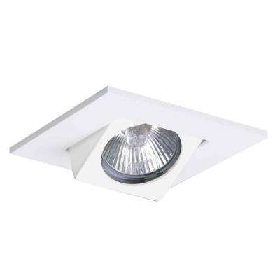 White Recessed Ceiling Light Square Adjustable Eyeball Trim