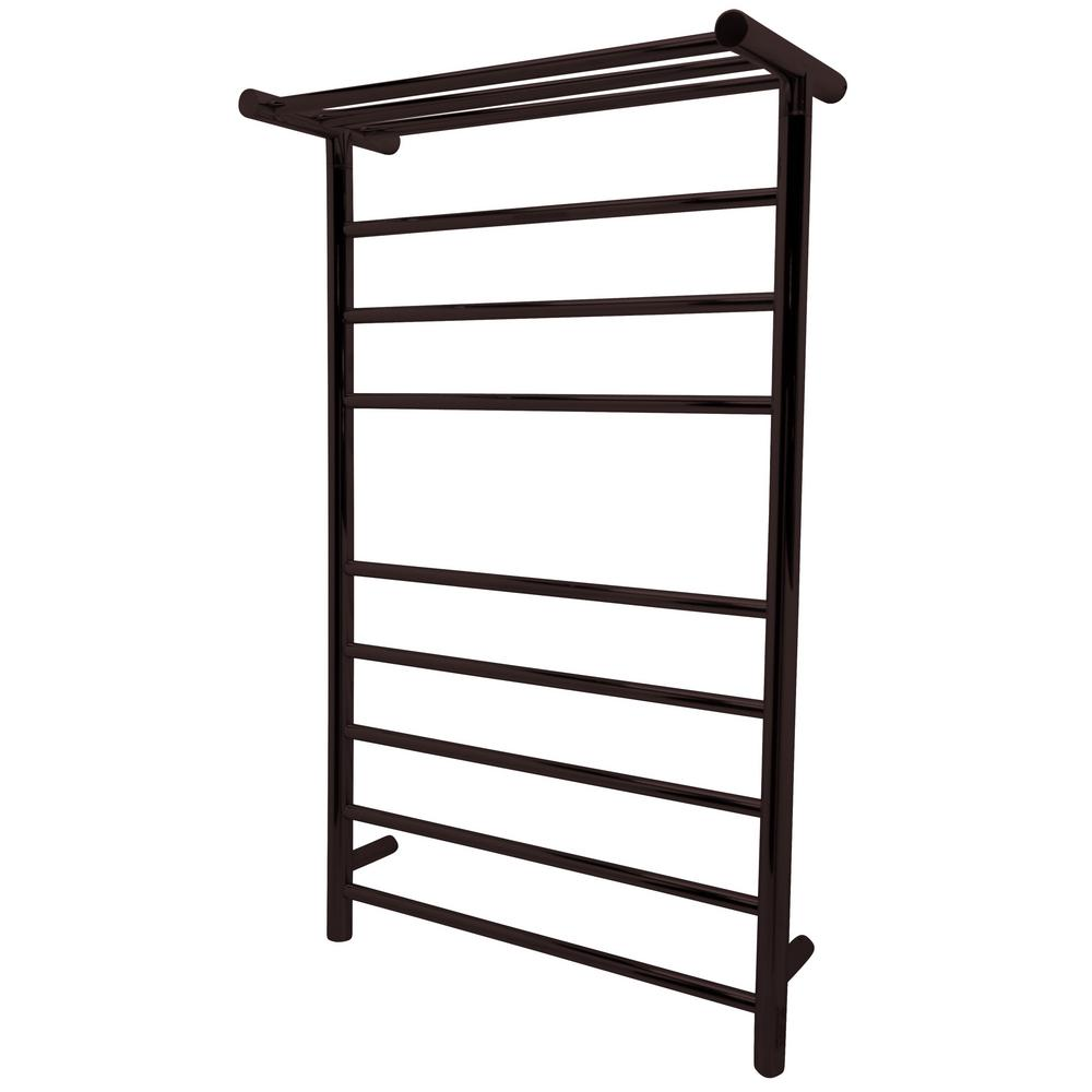 ANZZI Eve 8-Bar Stainless Steel Wall Mounted Towel Warmer in Oil Rubbed  Bronze