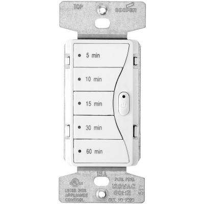 Aspire 1800-Watt 15 Amp 5-Button Minute Timer - Alpine White