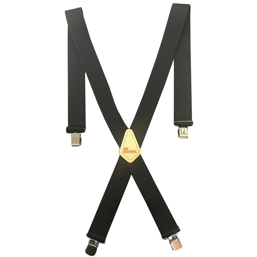 Berne Men's Adjustable Nylon Clip on Suspenders