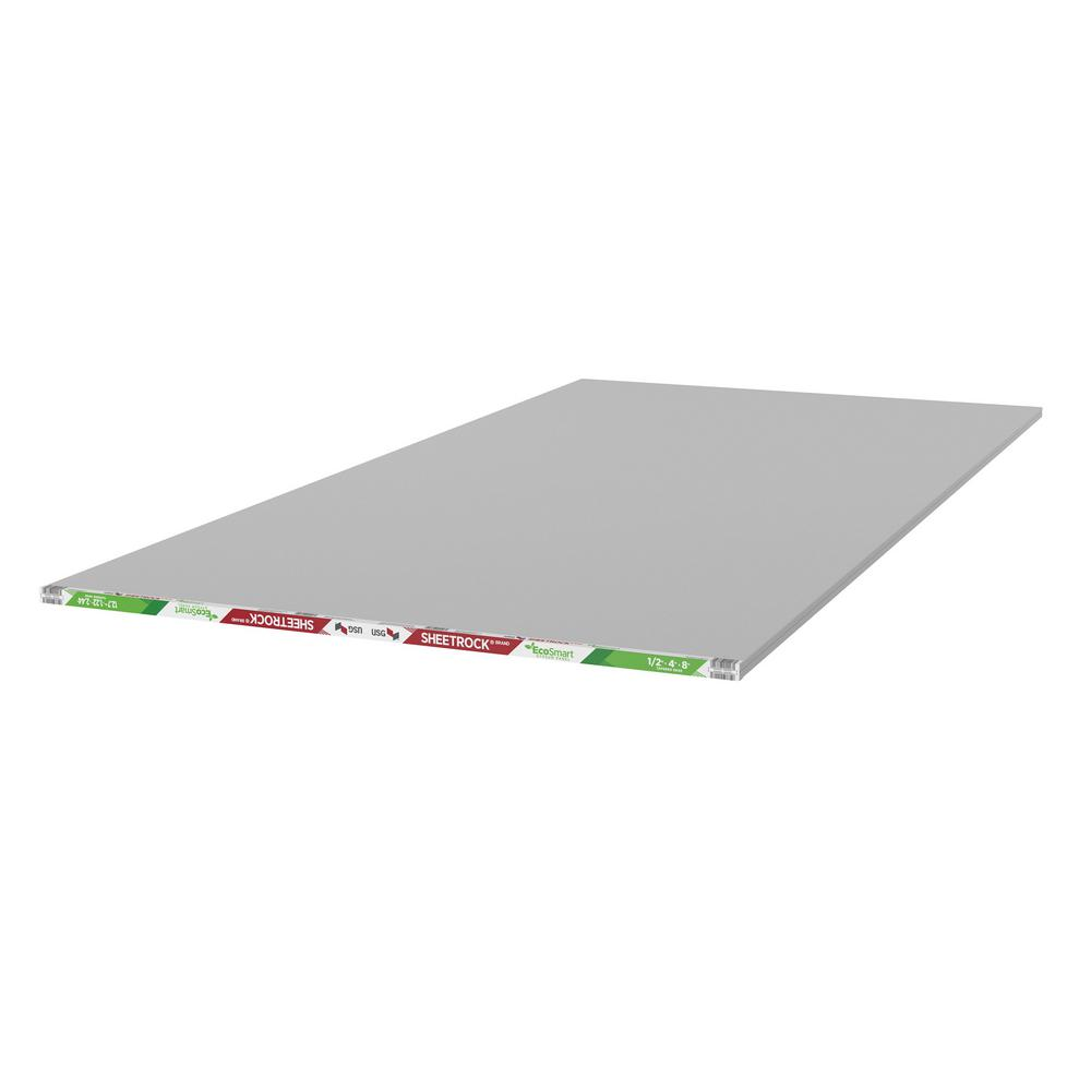 EcoSmart 1/2 in. x 4 ft. x 8 ft. Gypsum Board