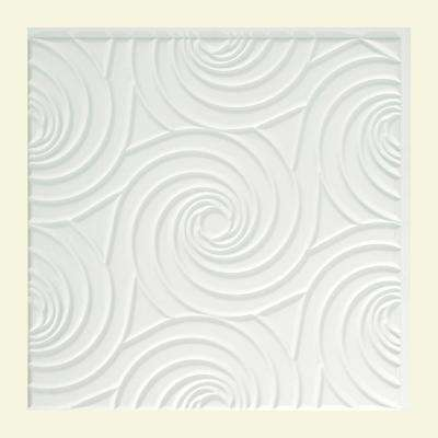 Typhoon - 2 ft. x 2 ft. Glue-up Ceiling Tile in Matte White