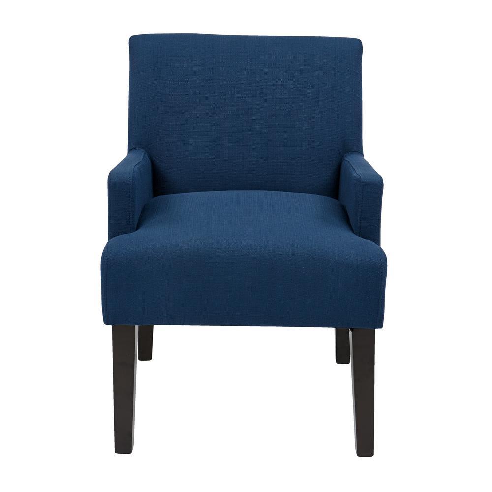 Main Street Woven Indigo Fabric Guest Chair